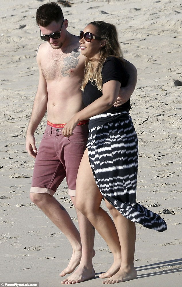 English singer leona lewis spotted on the beaches of maui with her
